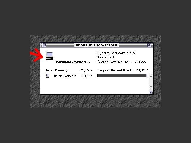 Mac Identifier 2.2 in action under Mac OS 7.5.3