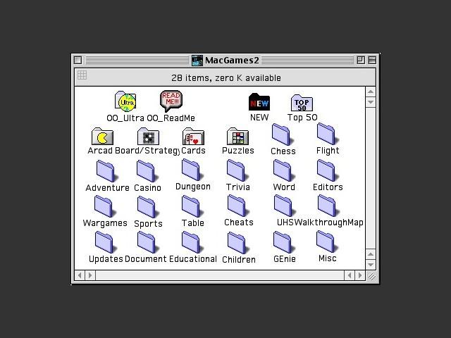 Ultra Mac Games 2 CD contents