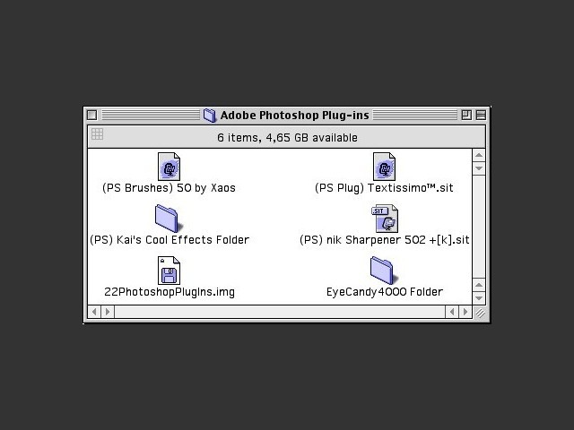 Various Adobe Photoshop plugins from the 90's (1996)
