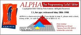 Alpha 7.x (LaTeX editor) (1998)