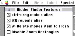 Hidden Finder Features (1996)