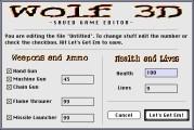 Wolfenstein 3D Saved Game Editor (1995)