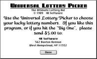 Universal Lottery Picker (1989)