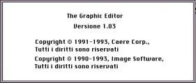 The graphic editor 1.03 (Italian) (1993)