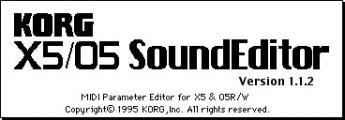 Korg X5/O5 SoundEditor (1995)