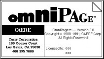 OmniPage 3 (1993)