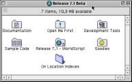 Mac OS 7.1b7 CD (developer tools) (1992)