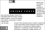 Emigre Signs of Type (1993)