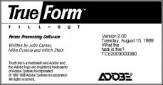 Adobe TrueForm 2 (1989)