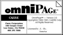 Omnipage 3.0 FR + Omnitranslator (1991)