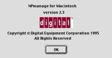 NPmanage for Macintosh v2.3 (1995)