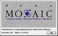 NCSA Mosaic (browser) (1993)