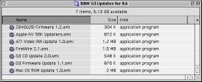 B&W G3 Updates for Mac OS 8.6 (1999)