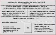 Travesty 3.0 (1988)