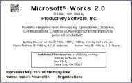 Microsoft Works 2.0 (1988)