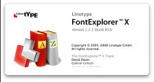 Linotype FontExplorer X (2008)
