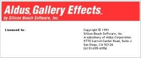 Aldus Gallery Effects Vol. 1 (1991)