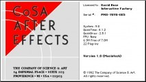CoSA After Effects 1.0 (1992)