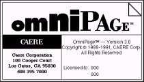 OmniPage 3.0 (1988)