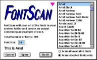 FontScan 1.1 (1994)