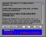 Finder Menu Patch (System 7.5; Finder 7.1.4) (1994)