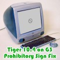 Mac OS X v10.4.2 Tiger / Install Disc 1 / Bad Machine or Unsupported G3 MOD (2005)