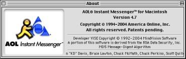 AOL Instant Messenger 4.7 (2004)