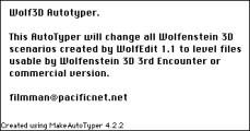 Wolfenstein 3D: Wolf3D Autotyper (1996)
