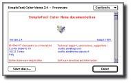 SimpleText Color Menu 3.4 (1998)