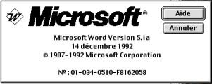 Microsoft Word 5.1 Français (1992)