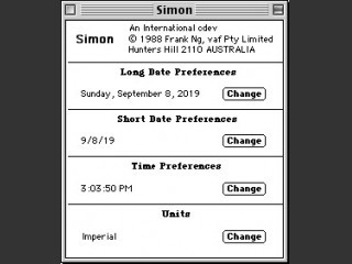 Simon, an international CDEV (1988)