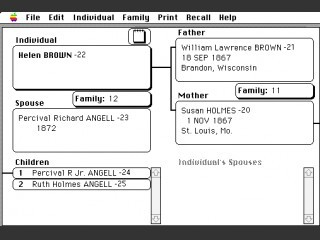 Personal Ancestral File: Family Records & Research Data Filer (1988)