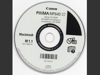 Canon PIXMA MP640 drivers CD-ROM (2009)