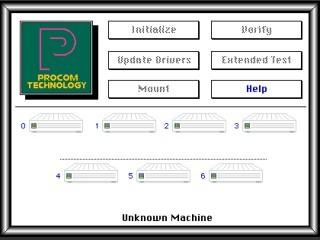 Procom SCSI Hard Disk Format Utility, Partition, and ProMount (1990)