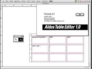 Aldus Table Editor (1990)