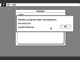Rolodex v0.01 (1984)