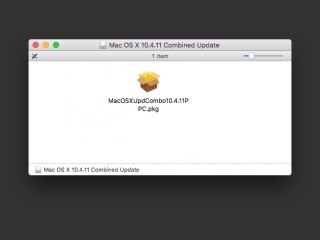 Mac OS X v10.4.11 Combined Update for PowerPC (CD) {Home build image} (2007)