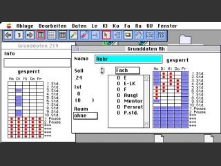 MacStupas Studentplan und Vertretungsplan (1996)