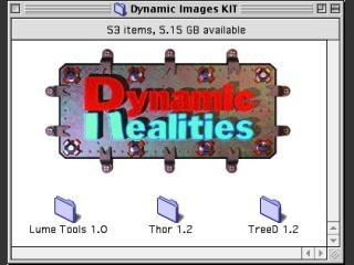 Dynamic Realities Lightwave Plugins (Lume Tools 1.0, Thor 1.2, TreeD 1.2) (1999)