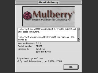 Mulberry 3.1.6a Mail Client (2004)