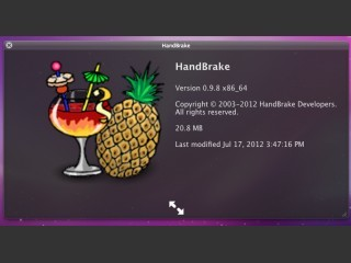 HandBrake 0.9.8 x86 64-bit For OSX 10.6 INTEL (2009)
