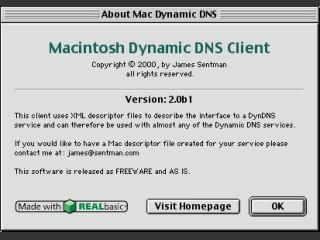 Mac Dynamic DNS Client 2.0b1 (2000)
