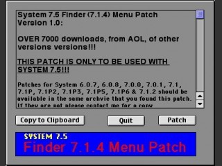 Finder Menu Patch (System 7.5; Finder 7.1.4) (1994)