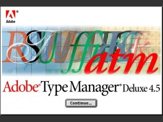 Adobe Type Manager 4.5.x (1999)