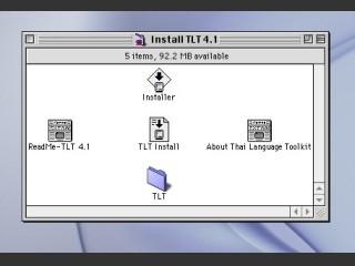 Thai Language Toolkit (TLT) (1999)
