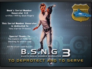 Buck's Serial Number Generator (BSNG) 3.0.2 (1999)