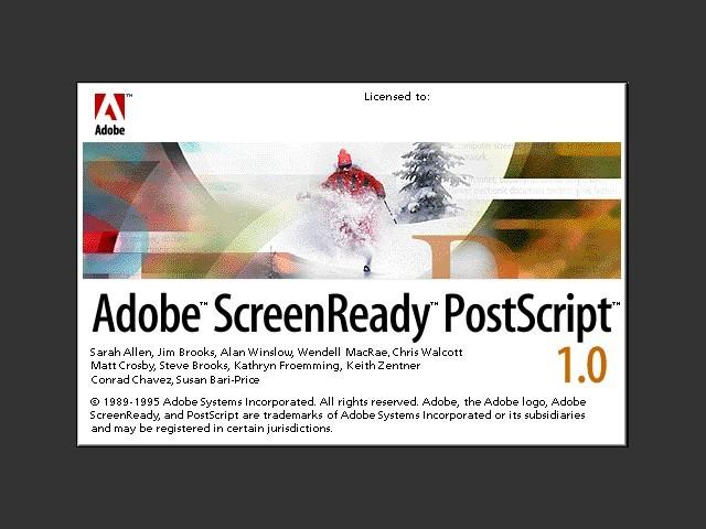 Adobe ScreenReady 1.0 (1995)