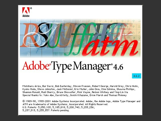 Adobe Type Manager 4.6.2 (2000)