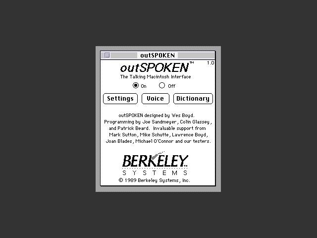 outSPOKEN 1.7 (1987)
