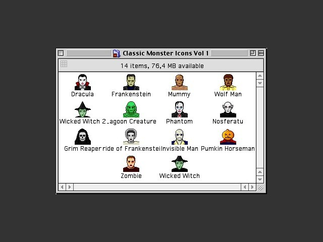 Classic Monster Icons Vol. 1 contents